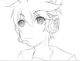 Kagamine Len Lineart by tridaln08