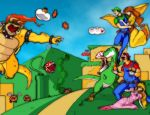 Super Mario Bros Colored by masked-ramen