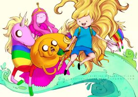 Adventure Time - Finn and Jake by Sardiini