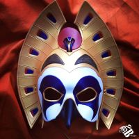 Egyptian Sun God, Ra Grand V.3 Leather Mask by b3designsllc