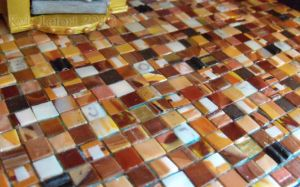 Steampunk House Kitchen Eclectic Tile Floor Detail by Kyle-Lefort