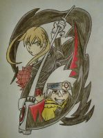 Maka Albarn and Soul Eater Evans by MesophaneGryyn