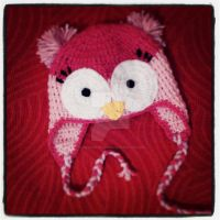 Owl earflap hat II by argentinian-queen