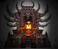 Sargeras on throne by Vaanel