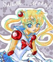 + Sailor Moon - Sketchy-  + by mariehchan