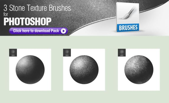3 Stone Texture Brushes for Painting by pixelstains