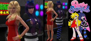 The Sims 3: Panty and Stocking by Tx-Slade-xT