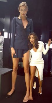 Tall Karlie Kloss and tiny Eva Longoria compare by lowerrider