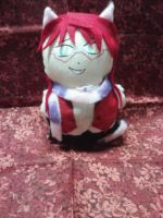 Cheshire Cat Grell Mini Plushie by snowtigra