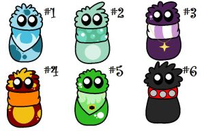 Scarfblob Eggs Hatched by SketchingBlobs