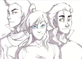 The Avatar and the Bending Brothers by Rivaldiart