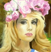 Lana Del Rey portrait (oil) by Janetly