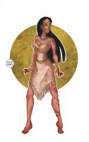 Zombie Pocahontas by LaTaupinette