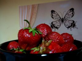 Strawberries by Kitty-Amelie