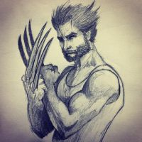 Wolverine sketch  by ninjason57