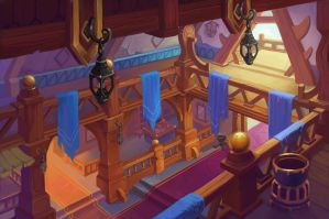 Viking house from the inside by lepyoshka