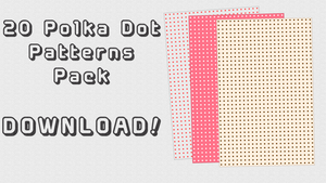 Polka Dot Patterns Pack + DL by IchiLewis