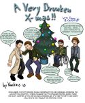 X-mas with Dean and Castiel by Vankoss