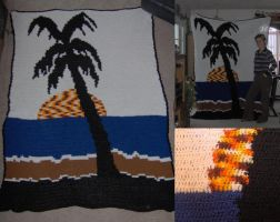 Palm Tree Blanket by MystiqueDeep