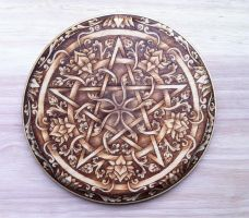 Lotus and Scrolls Pentacle by parizadhe