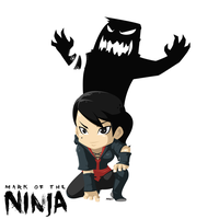 mark of the ninja fanart - the beast as the beauty by XaR623