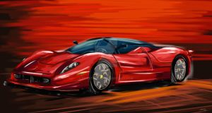 ferrari in quickscketch tech by Shayeragal