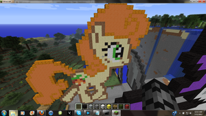 Carrot Top MLP Minecraft Art by hermp