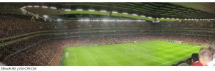 Arsenal VS Porto Emirates Pano by nawaz83