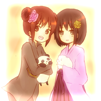 Chunien and Sakura by hamushi89
