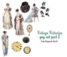 Vintage Victorian PNGs part 2 by desperatedeceit