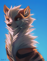 Blue Sky Arcanine by falvie
