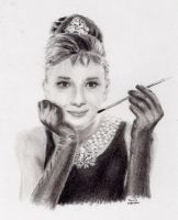 audrey hepburn by domis