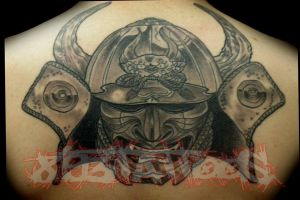 samurai mask by gil893tattoos