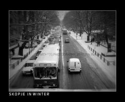 Skopje Street in Winter by mitatos