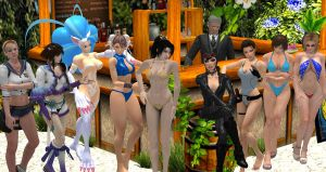 Poolside Paradise with Video Game Ladies 2 by cablex452