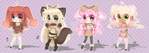 Adoptables -OPEN- by Anini-Chu