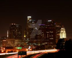 Los Angeles at night by shelly349