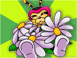 Charmy with daisys by MelanieTheBobcat