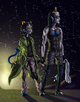 Equius and Nepeta - Together by Starlight by dave-littler