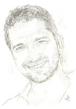 Gerard Butler drawing by bcstroud