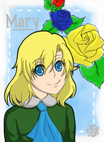 Mary with short hair by HimekoYagami