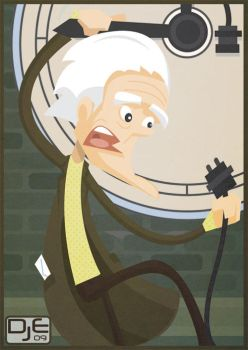 Back to the future - Doc Brown by johnnymartini