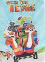 Over The Hedge drawing by antonio248