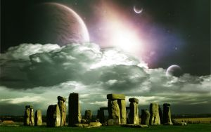 Wallpaper Fantasy Stonehenge by RaggioDiLuna