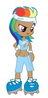 Sporty Human Rainbowdash by kaoshoneybun