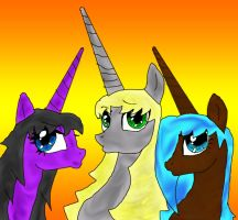 pony duck face group shot by animebaka94