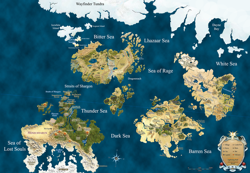 Dungeons + Dragons Map (Revised) by Nintendraw