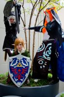 Link, Dark Link, and Midna Cosplays by EmilyScissorhands