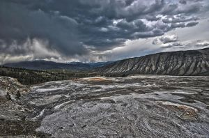 Storm Over Mammoth Springs by RichardNohs