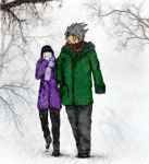 Kakashi-Hinata: Winter Walk by bronwenstx